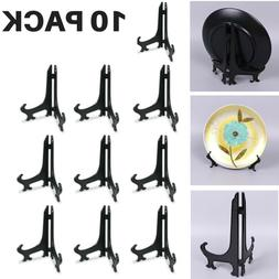 10 PACK Plate Display Easels Stands Plastic Picture Stand Fr