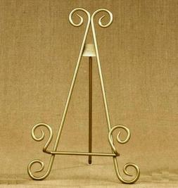 "11""h Gold Finish Metal Display Easel/Platter Stand ~ Great f"