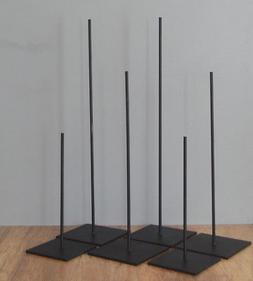 "11"" HIGH METAL ROD DISPLAY STAND FOR AFRICAN AND OTHER TRIBA"
