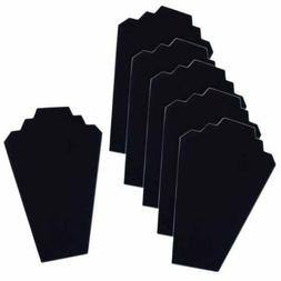 6 Necklace Display Stand Black Velvet Jewelry Display Cards
