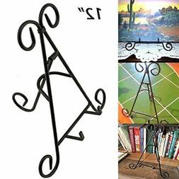"""12 """" Black Iron Display Stand Book Tower Picture Display Hom"""