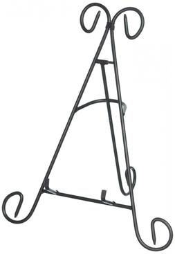 Adorox  Black Iron Display Stand Holds Cook Books, Plates, P