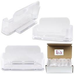 12pcs Clear Acrylic Business Card Holder Display Stand Deskt