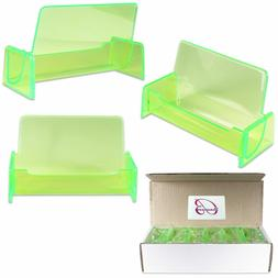 12PCS Clear Green Acrylic Office Business Name Card Holder D
