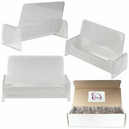12PCS Clear Silver Acrylic Office Business Card Holder Displ