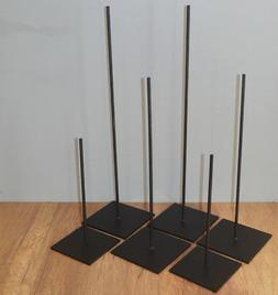 """14"""" METAL DISPLAY ROD STAND FOR AFRICAN AND OTHER TRIBAL MAS"""
