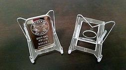"""~15 Adjustable 2"""" Display Stand Easel Coins Silver Gold Plat"""