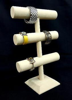 "16"" Height 3 Tier Jewelry Hard Display Stand Holder Bracelet"