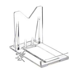 "2"" Two Part Adjustable Clear Acrylic Plastic Display Stand E"