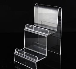 10pack 2-tier Acrylic Wallet Display Rack Purse Stand Holder