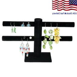 2 Tier Jewelry Hard Display Stand Holder Bracelet Chain Bang