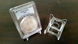 """~20 Adjustable 2"""" Display Stand Easel Coin PCGS NGC Air-Tite"""
