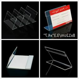 20x Clear Acrylic Sign Display Holder Price Tag Label Stand