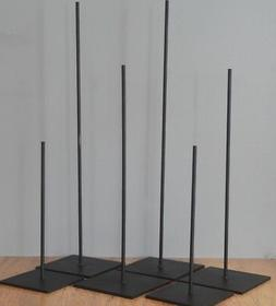 """24""""  METAL ROD DISPLAY STAND FOR AFRICAN OR THER ART  - 7x7"""