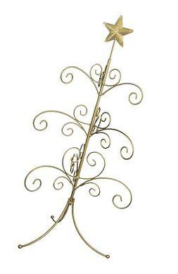 27 inch Silver Regal Metal Ornament Display Tree