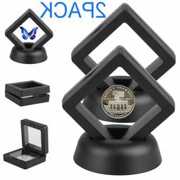 2Pack Display Stand Floating Challenge Coin Medal ANY Coin H