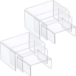 2Sets Clear Acrylic Display Risers,Jewelry Display Riser She