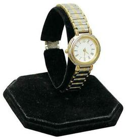 "3-3/8"" inch Velvet Watch Display Stand Black Jewelry Organiz"