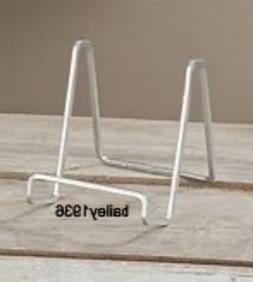 """3"""" PLATE STAND SILVER Square Wire Display EASEL Tripar 50213"""
