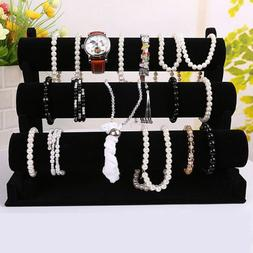 3-Tier Jewelry Watch Bracelet Holder Display Stand 3-Bar Org
