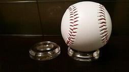 "3 Large 2"" Round Dimple Display Stand For Baseballs, Softbal"