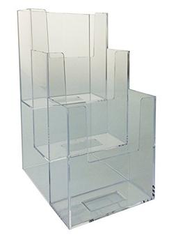Marketing Holders 12 Pack 3-Tier Clear Acrylic Brochure Hold