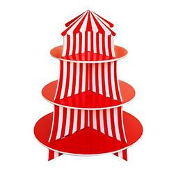 3 Tier Cupcake Foam Stand with Circus Carnival Tent Design f