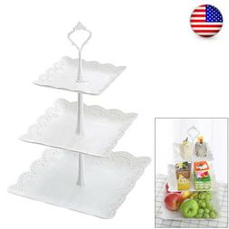 3 Tier Cupcake Stand Wedding Birthday Party Cake Fruit Tray