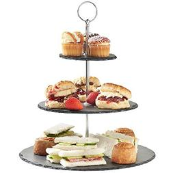 3 Tier Serving Tray Tiered Serving Stand | Slate Cheese Boar
