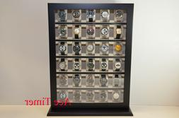 30 Watch Black Lacquer Stand Wall Display Storage Case Fit u
