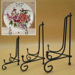 Iron Easel Bowl Plate Art Photo Picture Frame Holder Book Te