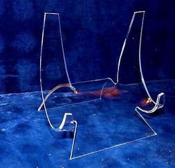 """4-3/4 """" EXTRA LARGE ACRYLIC EASEL DISPLAY STAND SEA SHELL DE"""