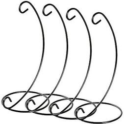 Artliving (4 Pack Ornament Display Stand, Black Iron Hanging