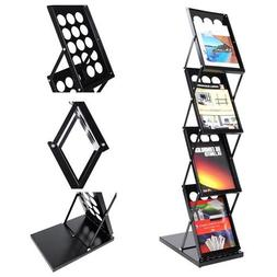 4 Pocket Folding Literature Rack Brochure Stand Display Hold