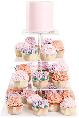 Four Tier Cupcake Stand Square - Dessert Tower | Plus Travel