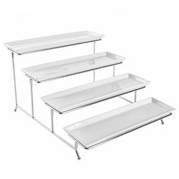 4 Tier White Ceramic Party Serving Platter / Food Display Tr