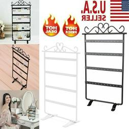 48 Hole Jewelry Display Stand Rack Earring Holder Storage Or