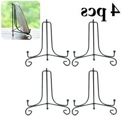 4pcs Iron Display Stand Art Plate Easel Holder Plaques Stora