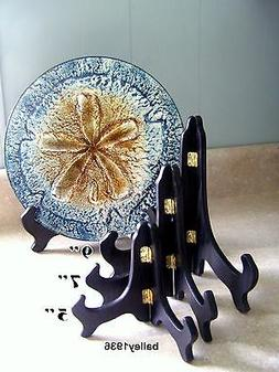 """5"""" SMALL BLACK Wood Easel Plate Stand Display Tripar 23-1205"""