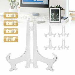 5 Pack Clear display easel Stand Plate Photo Picture Frame P