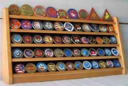 5 Rows Challenge Coin Holder Display Stand, Solid Wood,