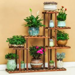5 Tier Conner Style Pine Wood Plant Stands Shelving Ground t