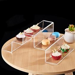 5-Tier Modern Stair-Step Design Clear Acrylic Dessert Cupcak