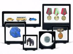 6 Assorted Magic Frame Display Stand Floating 3D Rock Minera