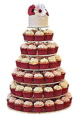 Jusalpha Large 7-tier Acrylic Round Cake Stand-cupcake Stand