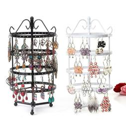 72/144 Holes Rotating Earring Jewelry Display Stand Rack Hol