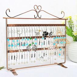 72 Holes Earring Jewelry Necklace Display Rack Metal Stand H