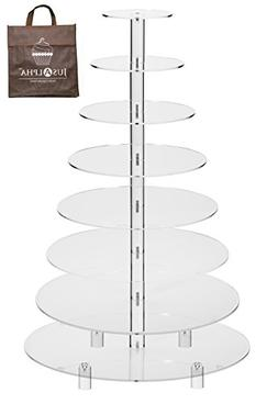 Jusalpha 8 Tier Wedding Party Acrylic Round Cake Stand/ Cupc