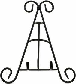 "Adorox 9"" Black Iron Display Stand Holds Cook Books, Plates,"