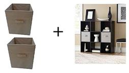 Mainstays 9 Cube Organizer with Set of 2 Collapsible Fabric